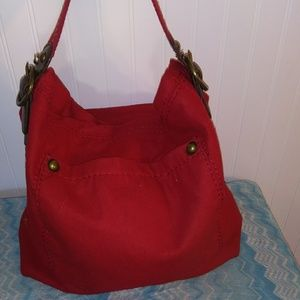 GAP wool blend bag. Red